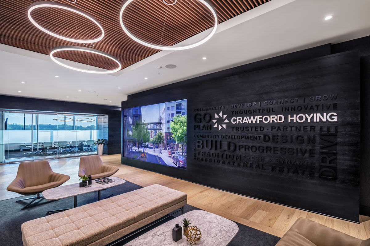 Crawford Hoying Lobby Branding Wall